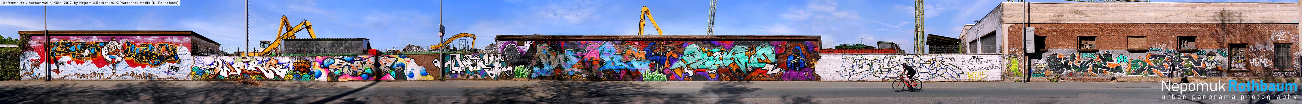 Hafenmauer / harbor wall, Köln 2019, by Nepomuk Rothbaum, © Pauseback Media (Nikolaus Pauseback) 2019